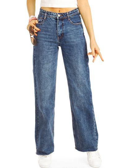 Mom Jeans slouchy High Waist Hose - klassisch, modern -  Damen - j27g-3