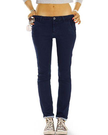Chinos, hüftige Stoffhosen, Jeans / Hosen Hybrid  mit Stretch - Damen - j42L