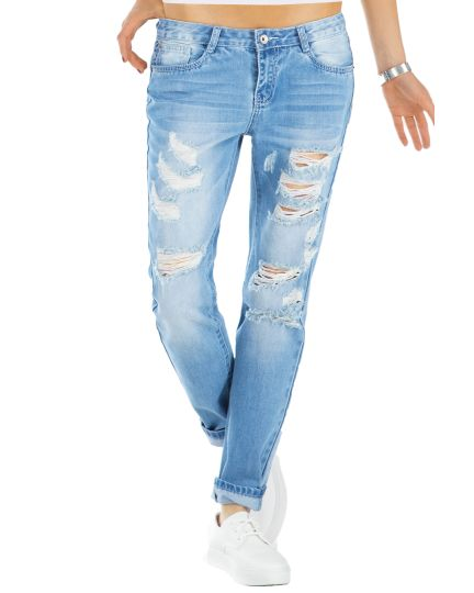 BE STYLED Boyfriend Destroyed Jeans - Zerrissene Hose - Relaxed Fit - j60kw