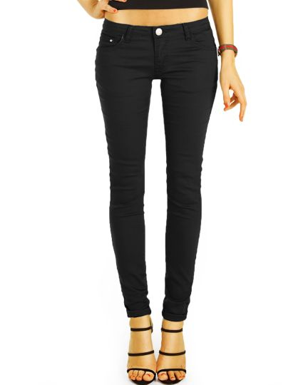 Low Waist Jeans Hüfthose Röhren Skinny Strecht PushUp Hose - Damen - j22i-2