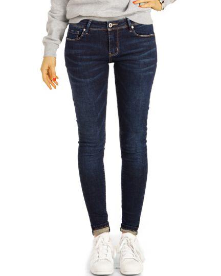 Hüftjeans Vintage Röhrenjeans Skinny Hosen low waist Jeans Slimfit - Damen - j15k-2