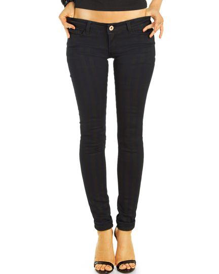 Low Waist Jeans Hüftjeans gestreifte Röhrenjeans Skinny Hosen - Damen -  j22k-2