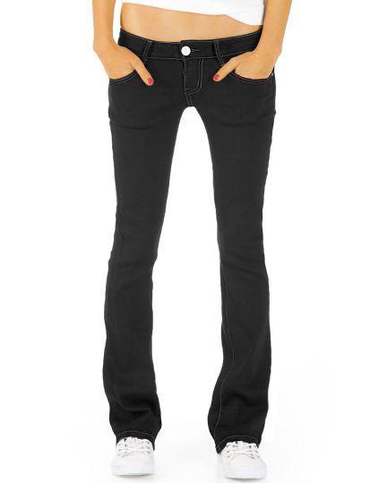Stretchjeans Hose  - Hüftjeans mit niedriger Leibhöhe Bootcut Jeans Hüfthose - j46kwxx