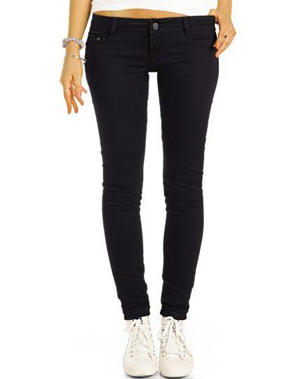 be styled  low rise Skinnyjeans - schmale Basic Jeans in schwarz - Damen - j71e