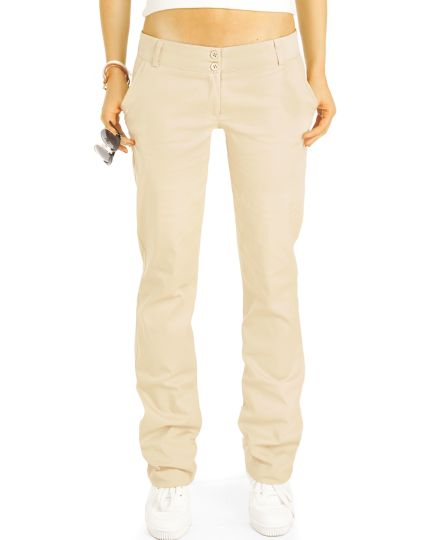 BE STYLED Chinos, Stoffhosen, loose- lockere Hosen mit Stretch, - Damen - h25a