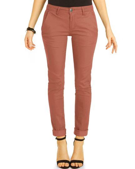 Chinos, Stoffhosen, klassische Hosen mit Stretch Hüfthosen - Damen - j21e