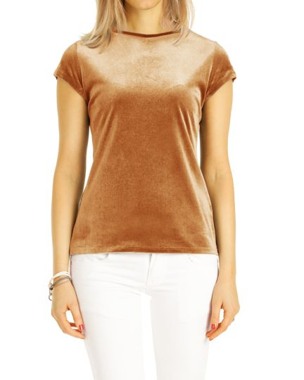 T- Shirt, Nicki Top Velour Loungewear Oberteile- Damen - t119z